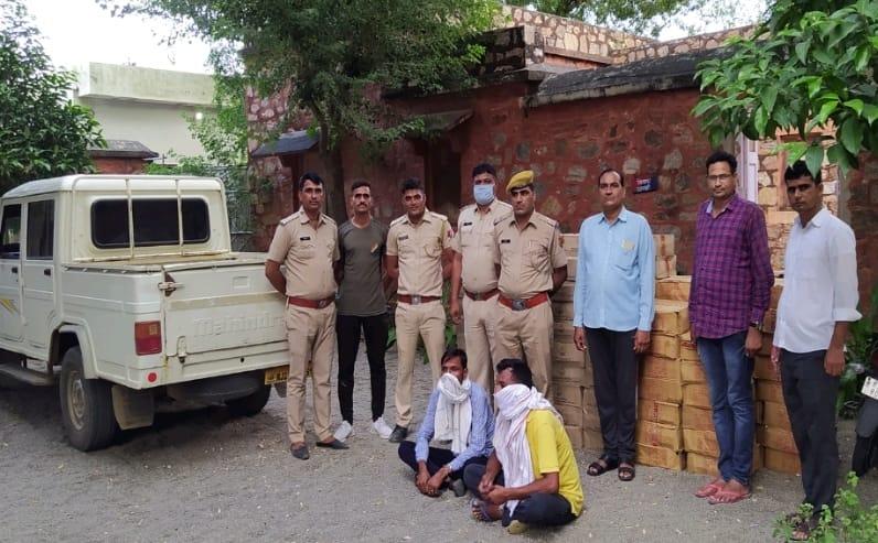 राजस्थान/नागौर:114 पेटी देशी शराब बरामद, 2 तस्कर गिरफ्तार